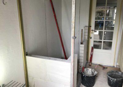 Nyt rum toilet under opførelse.